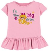 Lil Shirts I'm The Big Sister Little Girls Toddler & Youth Ruffle Shirt