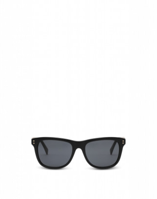 Moschino Square Sunglasses With Lettering Logo Woman Black Size Single Size