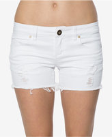 O'Neill Juniors' Scout Ripped White Wash Denim Shorts