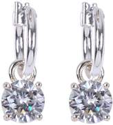 Anne Klein Stone Drop Hoop Earrings