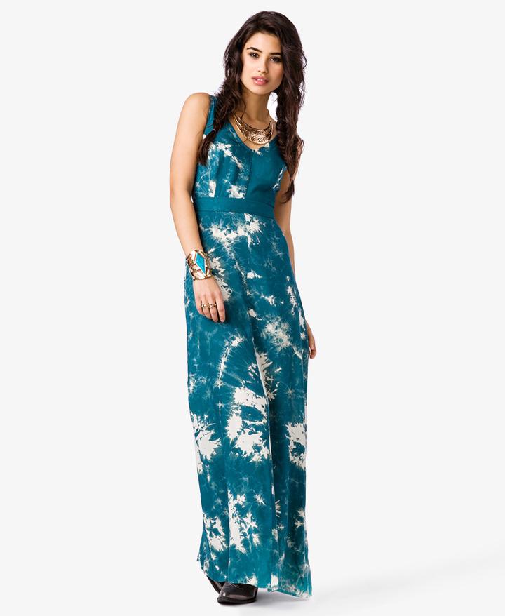 Forever 21 Sun Goddess Tie-Dye Maxi Dress