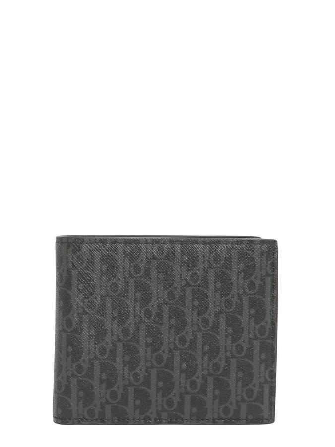 Christian Dior Wallet In Darklight Canvas And Calfskin