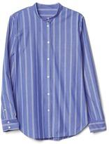 Gap New fitted boyfriend stripe shirt