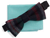 Original Penguin Wool Bow Tie And Pocket Square Set