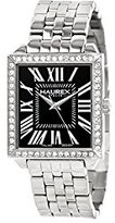 Haurex Italy Women's XS376DN1 Prestige Stainless Steel Square Crystals Watch