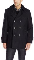 Tommy Hilfiger Men's Brady Double-Breasted Peacoat