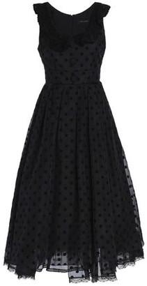 Marc Jacobs Flocked Silk-organza Midi Dress