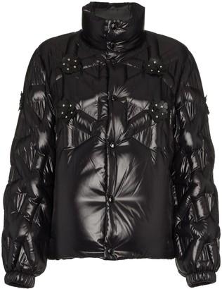 Moncler Rubellite flower-embellished jacket