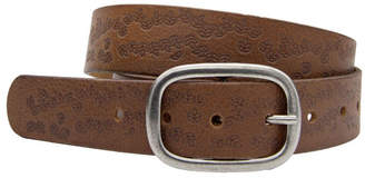 Loop Dark Tan Leather Lexington Belt