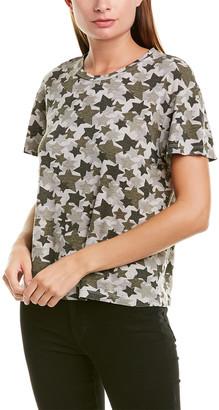 Monrow Vintage Camo Star Linen-Blend T-Shirt