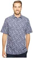 Bugatchi Short Sleeve Classic Fit Point Collar Shirt