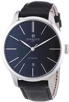 Perrelet First Class Men's Automatic Watch with Black Dial Analogue Display and Black Strap 1049/2