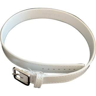 Maison Margiela White Leather Bracelets
