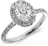 Oval Cirque Diamond Ring in 18k White Gold (1.34 ct. tw.)