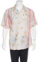 Robert Graham Embellished Abstract Print Shirt