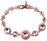 Givenchy Bracelet, Rose Gold-Tone Swarovski Vintage Stone Bracelet