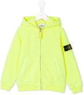 Stone Island Junior - zipped hoodie - kids - Cotton - 8 yrs