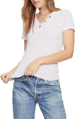 Michael Stars Kiana Short Sleeve Henley T-Shirt