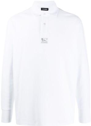 Raf Simons logo-patch polo shirt