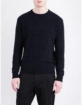Ami Alexandre Mattiussi Striped-knit Cotton Jumper