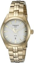 Tissot Women's T1012103303100 PR 100 Analog Display Swiss Quartz Gold Watch