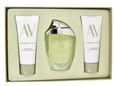 Adrienne Vittadini AV by Gift Set - 3 oz Eau De Parfum Spray + 3.3 Body Lotion + 3.3 oz Shower Gel (Women)