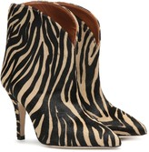 Paris Texas Zebra-print calf-hair ankle boots