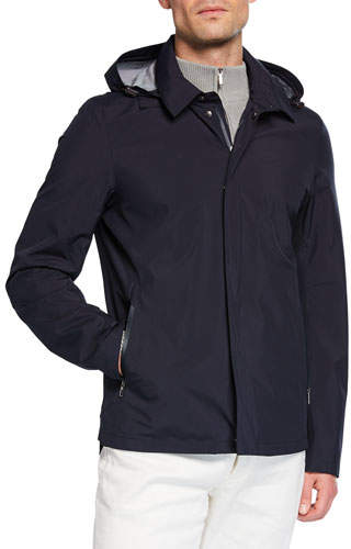 Loro Piana Men's Empire Hooded Water-Resistant Jacket