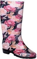 Pink Floral Rain Boot - Women