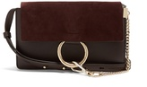Chloé Faye small suede and leather cross-body bag