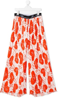 Miss Blumarine TEEN floral-print trousers