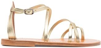 K. Jacques Irina flat leather sandals
