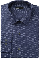 Bar III Men's Slim-Fit Blue Number-Print Dress Shirt, Only at Macy's