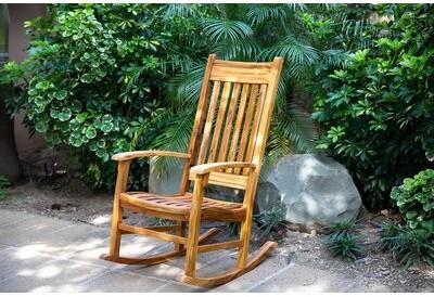 Masaya & Co Zelaya Rocking Chair Color: Teak