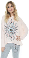 Lauren Moshi Wilma Oversized Pullover in Pink Champagne