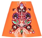 Miu Miu Embellished Faux Leather Skirt