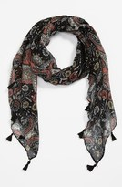 BP Floral Paisley Scarf Womens Neutral One Size One Size