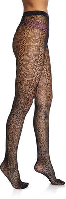 Wolford Nancy Floral-Lace Tights