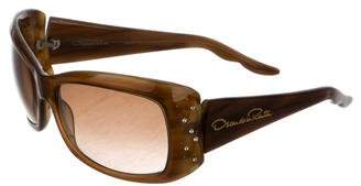 Oscar de la Renta Jewel-Embellished Gradient Sunglasses