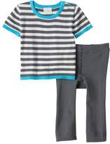 Cuddl Duds Baby Boy Striped Nautical Knit Top & Pants Set