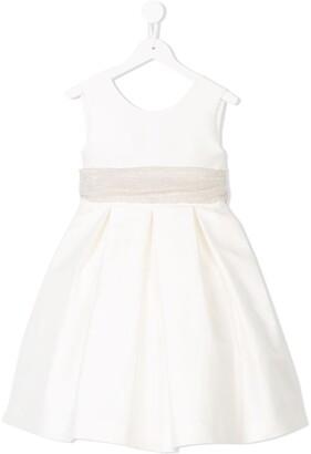La Stupenderia Belted Midi Full Dress