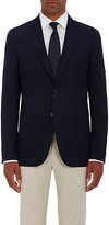 Barneys New York MEN'S WOOL BASKET-WEAVE TWO-BUTTON SPORTCOAT-NAVY SIZE 44 R