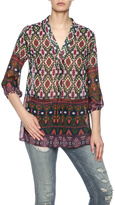 Jade Multi Pattern Sheer Blouse