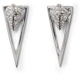 Vince Camuto Silvertone Geo Drop-back Earrings