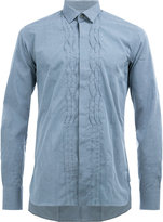 Lanvin pleated crease casual shirt - men - Cotton - 41