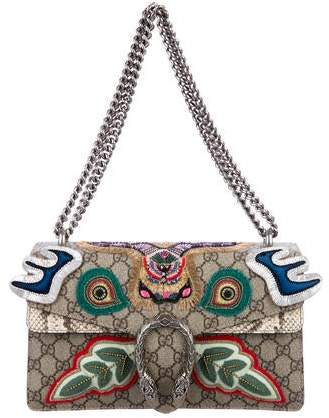 Gucci 2018 Embroidered Small Dionysus Shoulder Bag