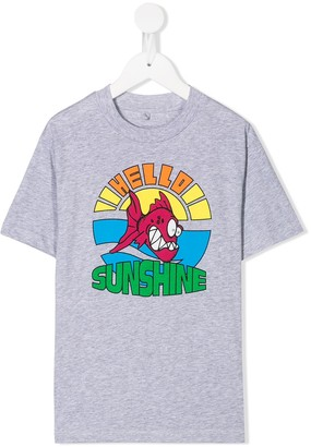Stella McCartney Kids hello sunshine print T-shirt