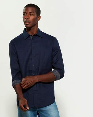 DKNY Reversible Plaid Shirt