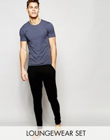 Asos Loungewear Muscle T-Shirt And Skinny Joggers Set
