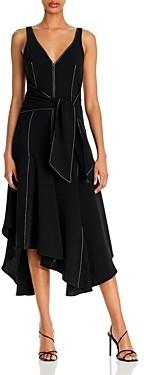 Cinq à Sept Stasia Handkerchief Hem Midi Dress